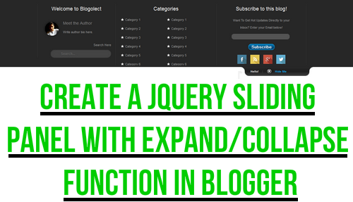 jQuery Sliding Menu Expand/Collapse Function Blogger