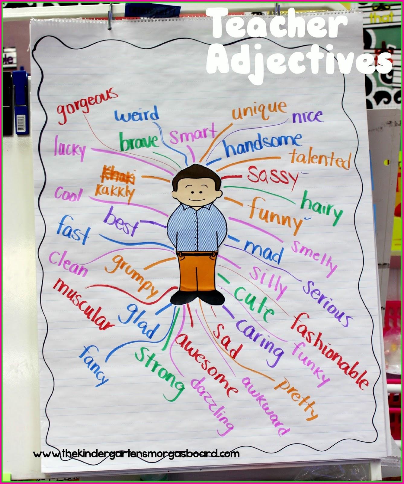 A Kindergarten Smorgasboard of Sparkling Adjectives! | Smedley's ...