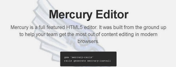 Mercury web editor