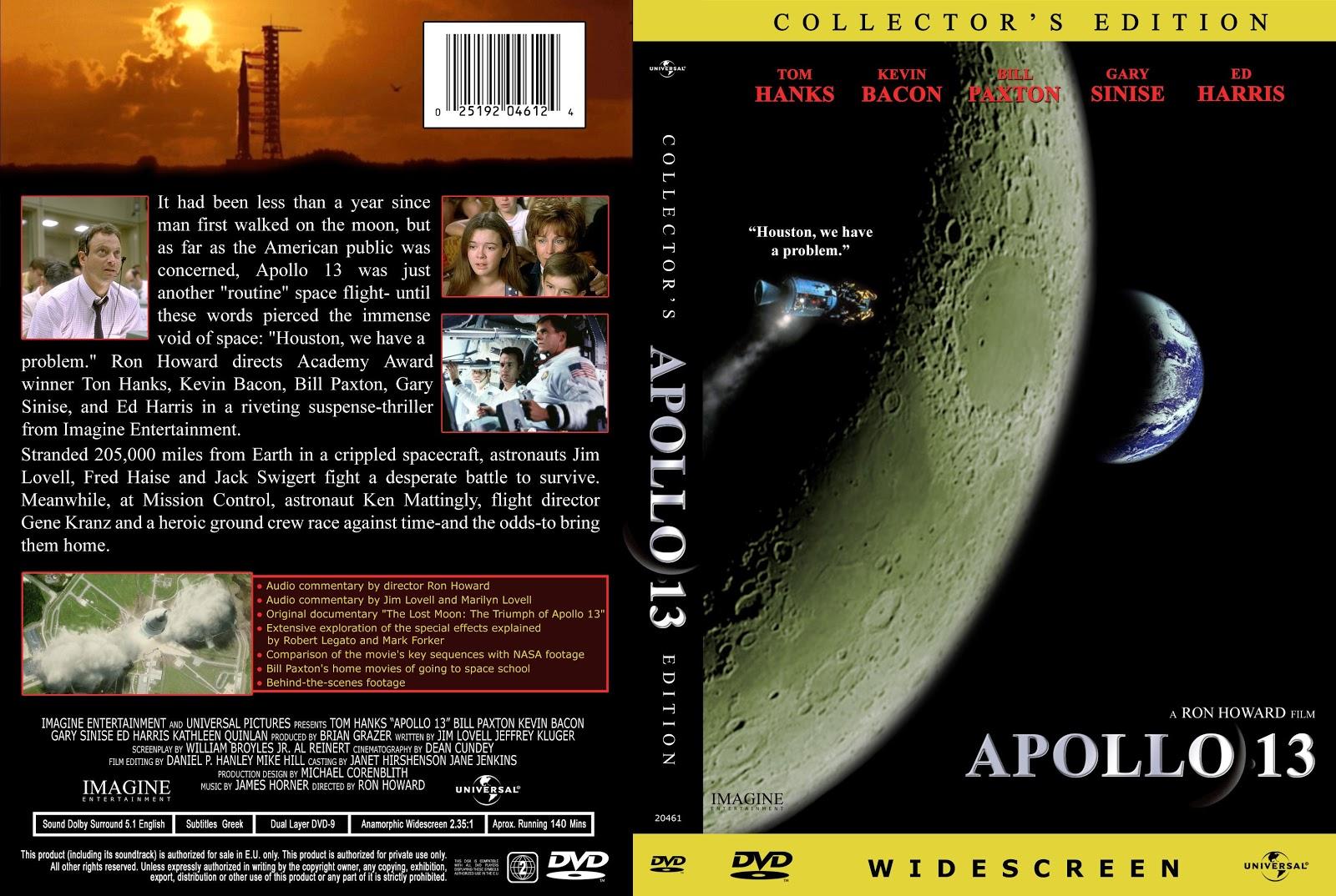 Capa DVD Apollo 13 Collectors Edition