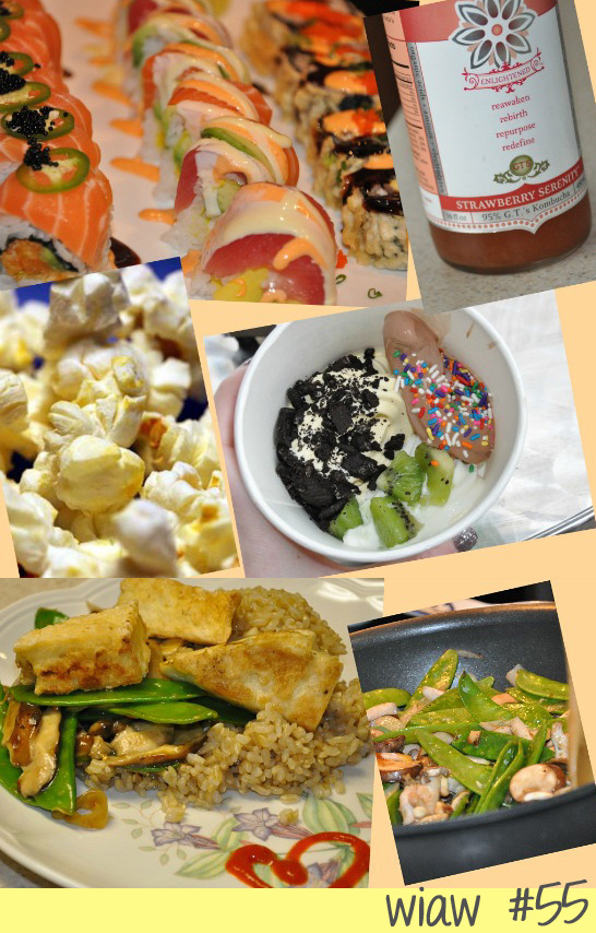 what i ate wednesday sushi stir fry tofu froyo