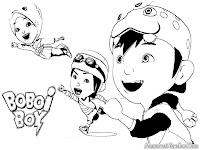 Halaman Mewarnai Gambar Boboi Boy