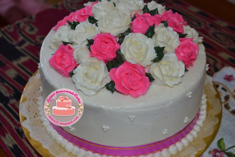 Sponge Buttercream ~ RM 80.00 (bunga penuh)