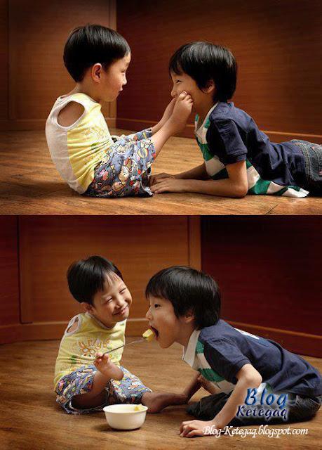 Telatah adik-beradik yang menyentuh perasaan