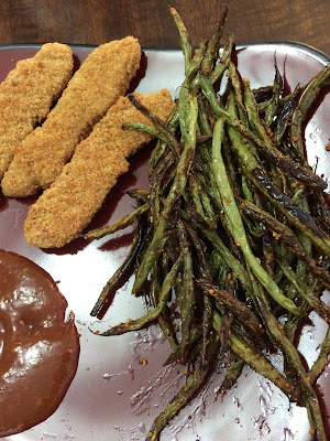 baked green beans with chicken fingers