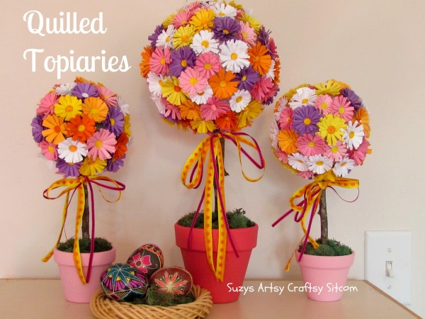 Someday crafts quilled paper flower topiaries quilled paper flower topiaries mightylinksfo