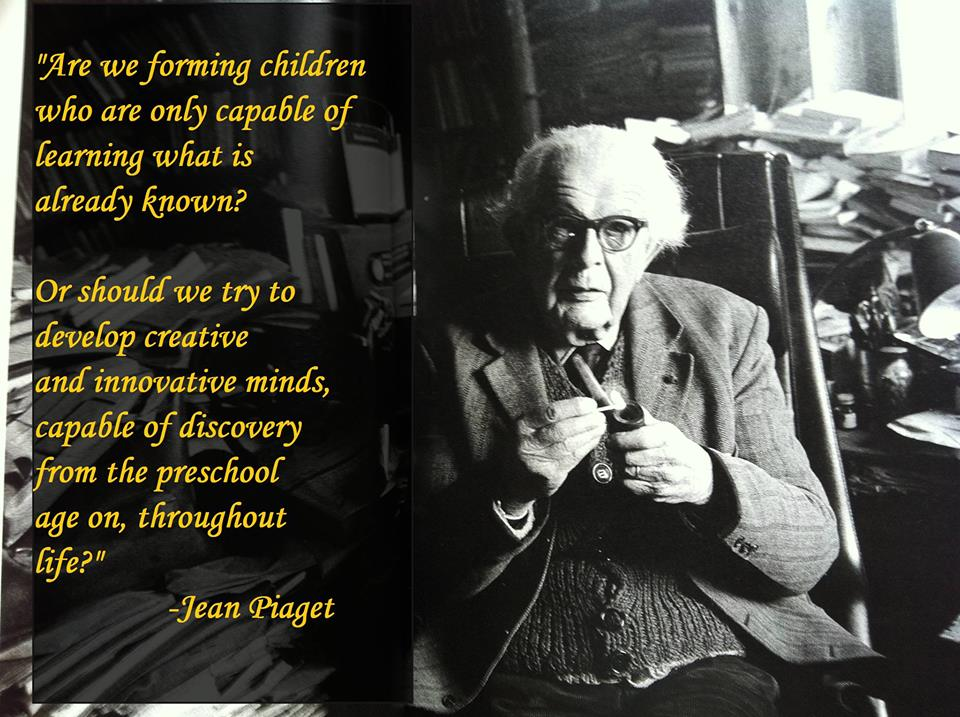 jean piagets Jean piaget is featured including his work as a psychologist on early childhood developmental issues and this theory of the four stages of cognitive development in children.