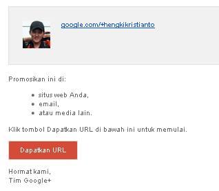 URL khusus google+