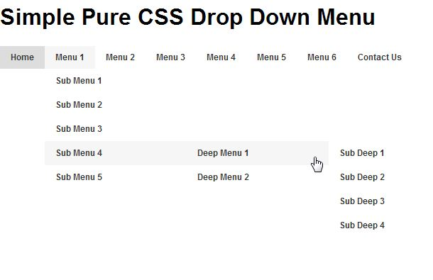 How to Creating Pure CSS Drop Down Menu