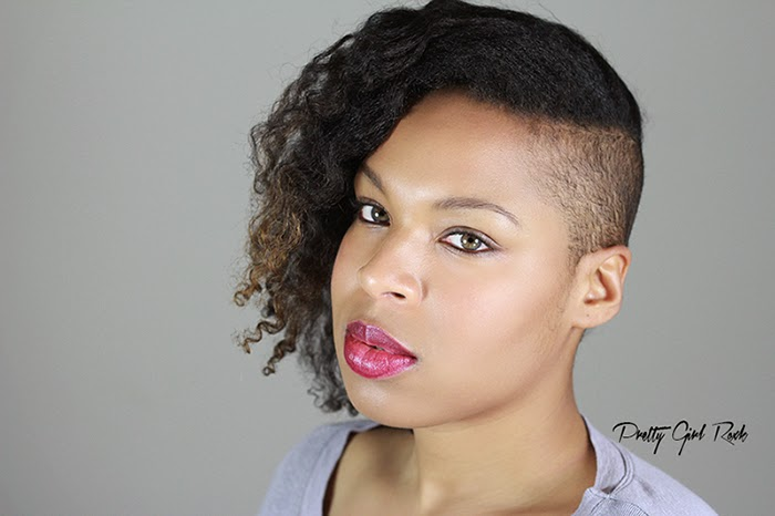 braid out on natural hair | shaved sides natural hair