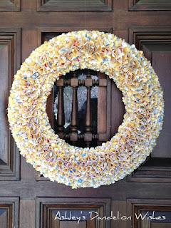 DIY Spring Wreath Tutorial by Ashley's Dandelion Wishes