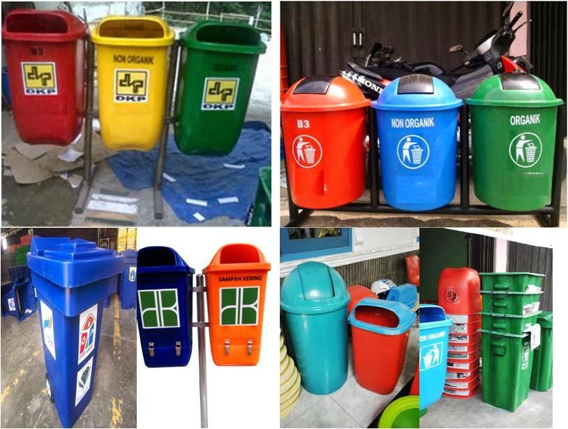 tong sampah fiber dan tong sampah hdpe