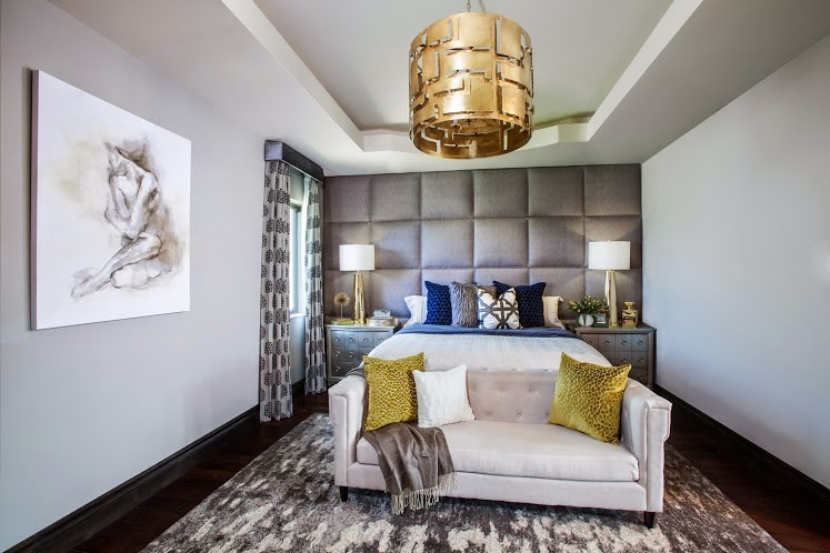Our First Order Of Business Was To Make This A Sexy Master Retreat That Reflected Their Love Of Modern Glam Yet I Knew Right Away That A Padded Headboard