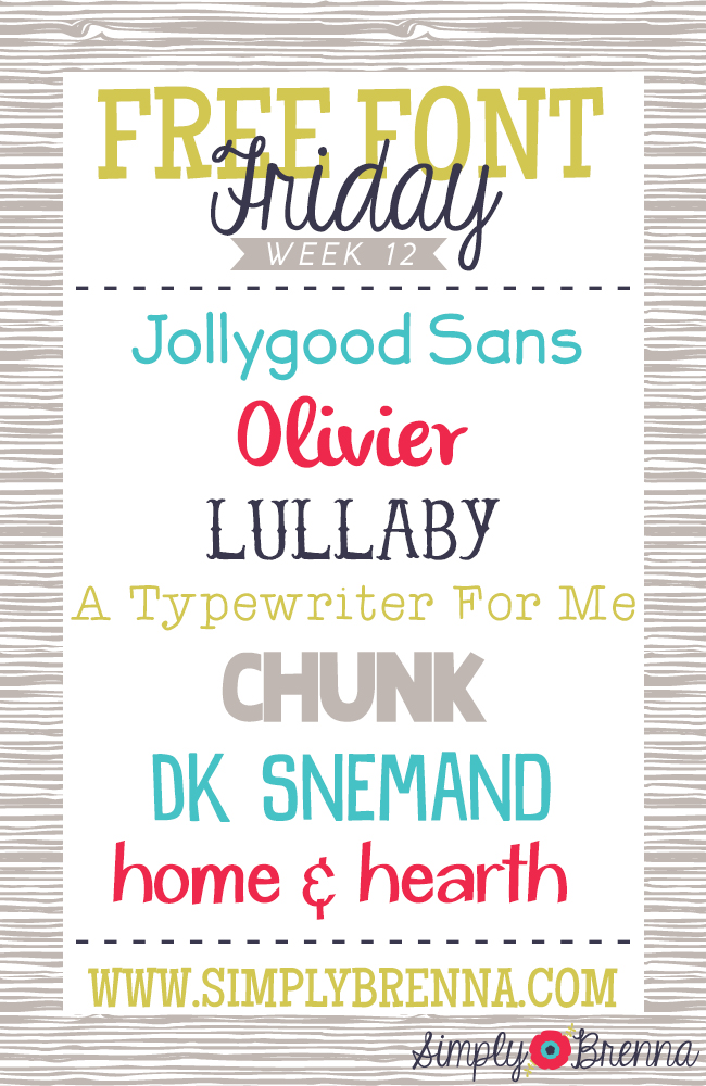 free font friday downloads simplybrenna