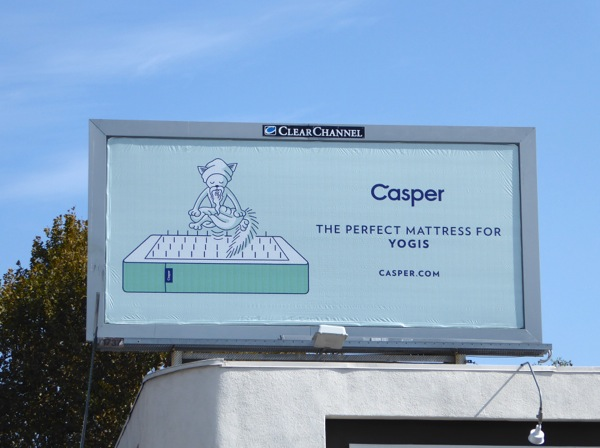 Casper perfect mattress yogis billboard