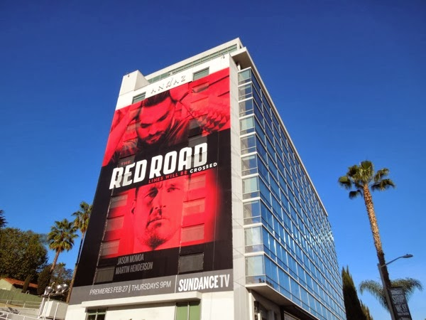 Giant Red Road series launch billboard