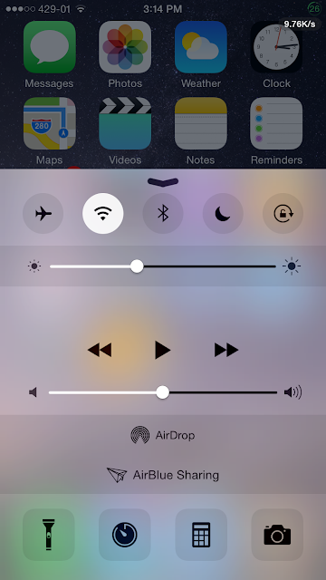 There are only 5 toggles(airplane mode, wifi, Bluetooth, donot disturb and a orientation lock) that are available in Control Center, so with this tweak you can add as many toggles as you want with this tweak called CCSettings.