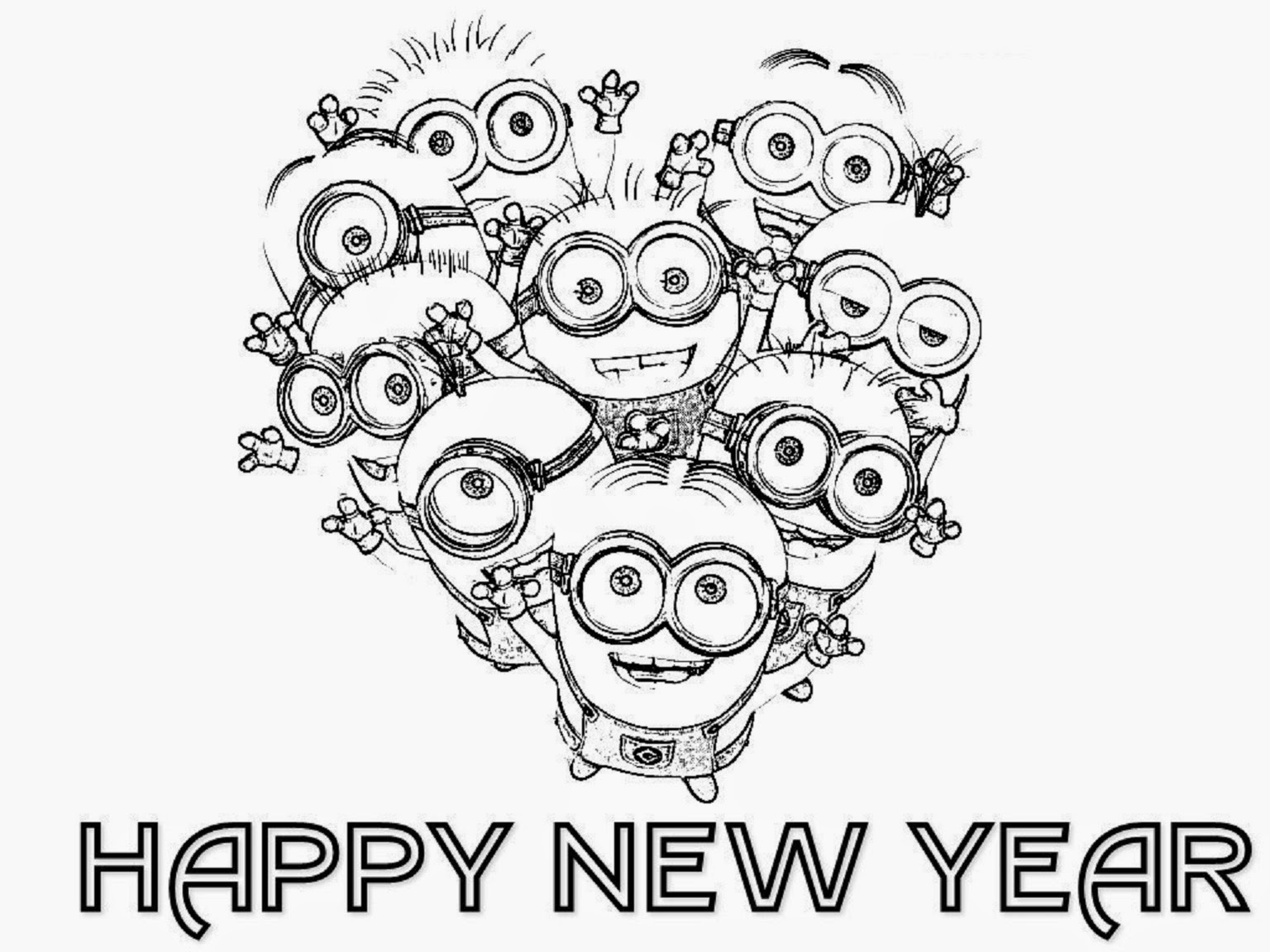 new year printable coloring pages - colour drawing free hd wallpapers happy new year 2015