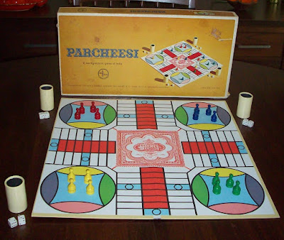 Parcheesi box from way back when I was a kid. We loved this game!