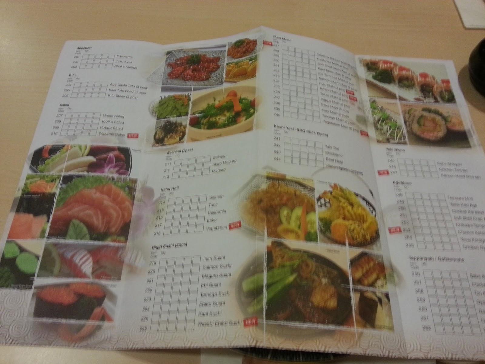 Japanese restaurant menu items for Asian cuisine catering