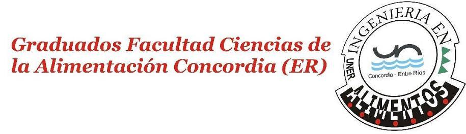 Graduados Facultad Ciencias de la Alimentación Concordia (ER)