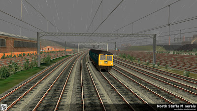 Fastline Simulation - North Staffs Minerals: A Cravens Class 105 DMU forming a local service runs along the Up Main at Etruria. North Staffs Minerals, a route for RailWorks Train Simulator 2012.