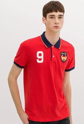 camisa polo bandeira Espanha da Zara para o Mundial Brasil 2014