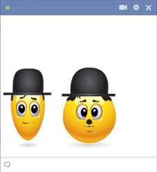 Laurel and Hardy Facebook Emoticon