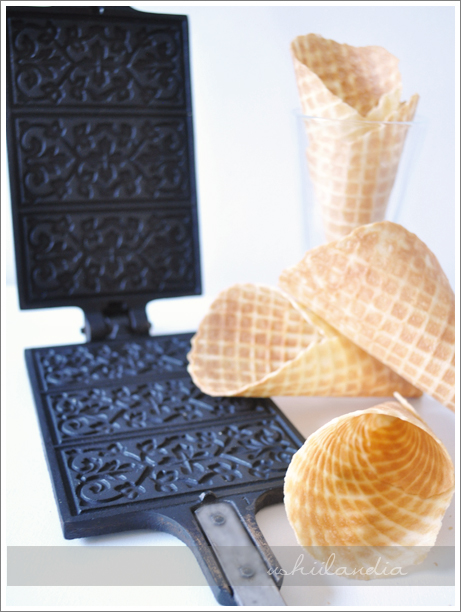 stara skandynawska forma do wafli