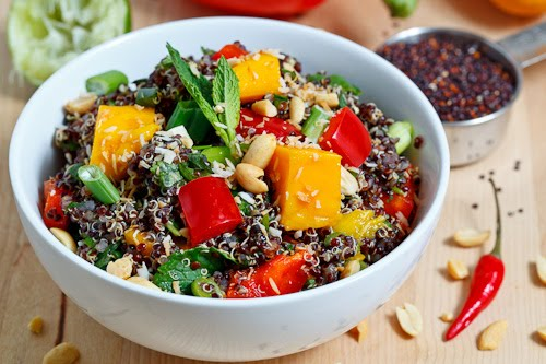 Thai Style Black Quinoa Salad on Closet Cooking