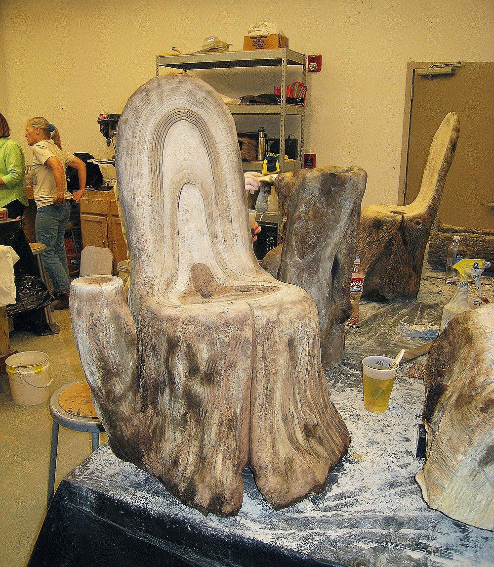 Faux bois sculpting courses for Faux bois painting technique