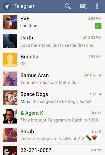 صورة من داخل تليجرام للشات