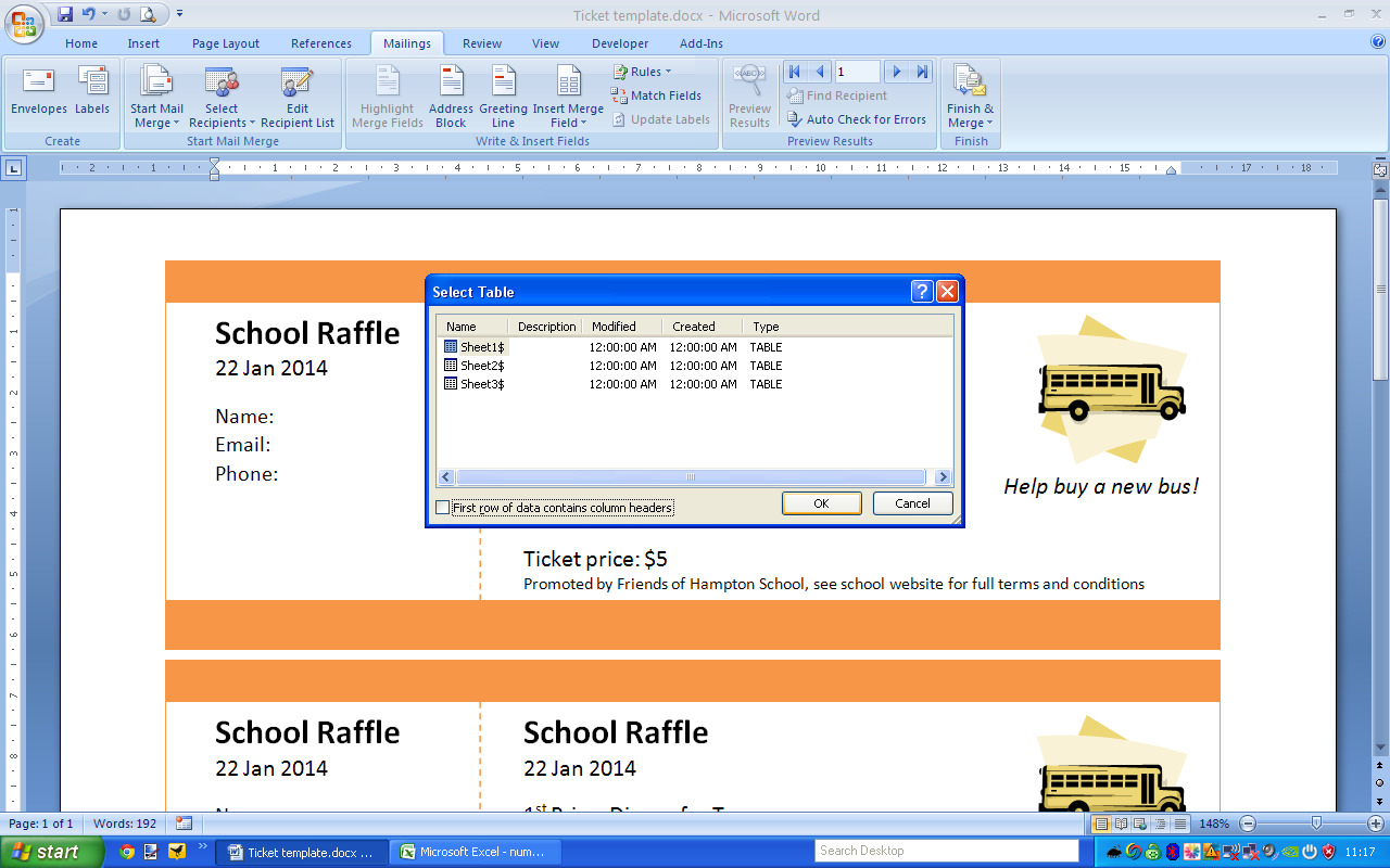 print numbered tickets in word raffle ticket creator step 4 add numbers to your word doc to get a printable document of pre numbered raffle tickets