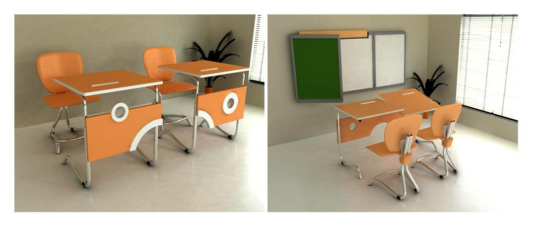 arevik minasyan Портфолио Дипломная работа дизайн школьной мебели 3d max
