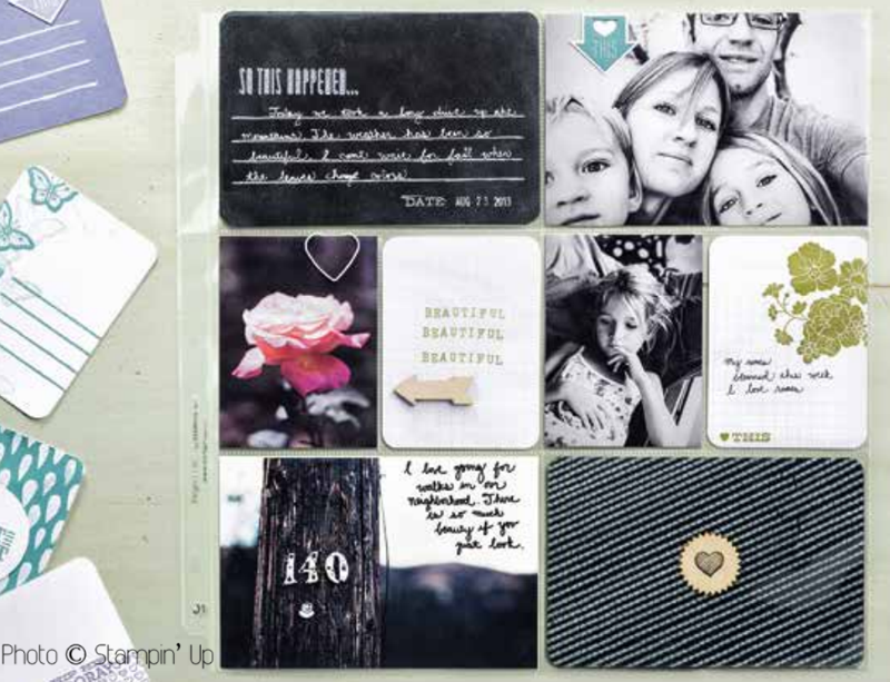 Stampin' Up Project Life page ideas and inspiration