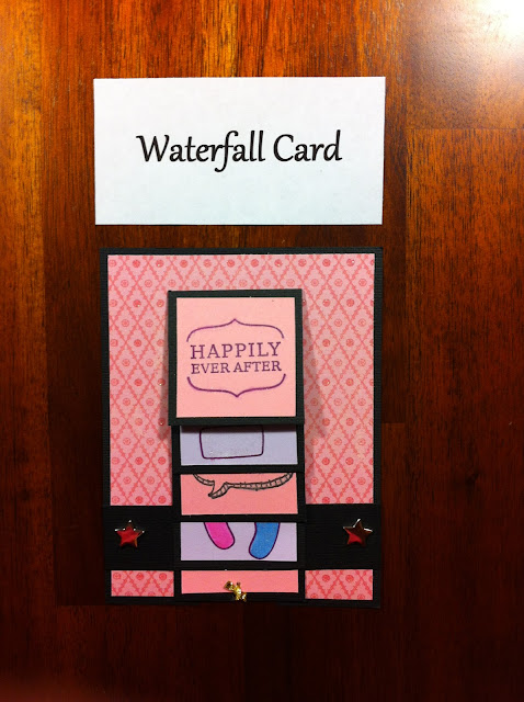 water-fall-card-wedding-pink-cute