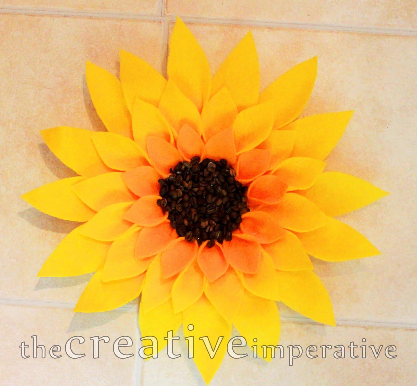 Цветы сделанные своими руками подсолнухи