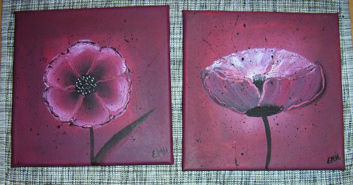 pink paper raven meine ersten acrylbilder. Black Bedroom Furniture Sets. Home Design Ideas