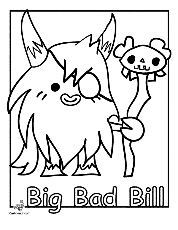 Oddie moshi monsters coloring pages