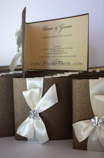 Classy elegant wedding invitation cards