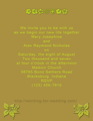 Template and example for a informal wedding invitation wording informal wedding invitation image filmwisefo