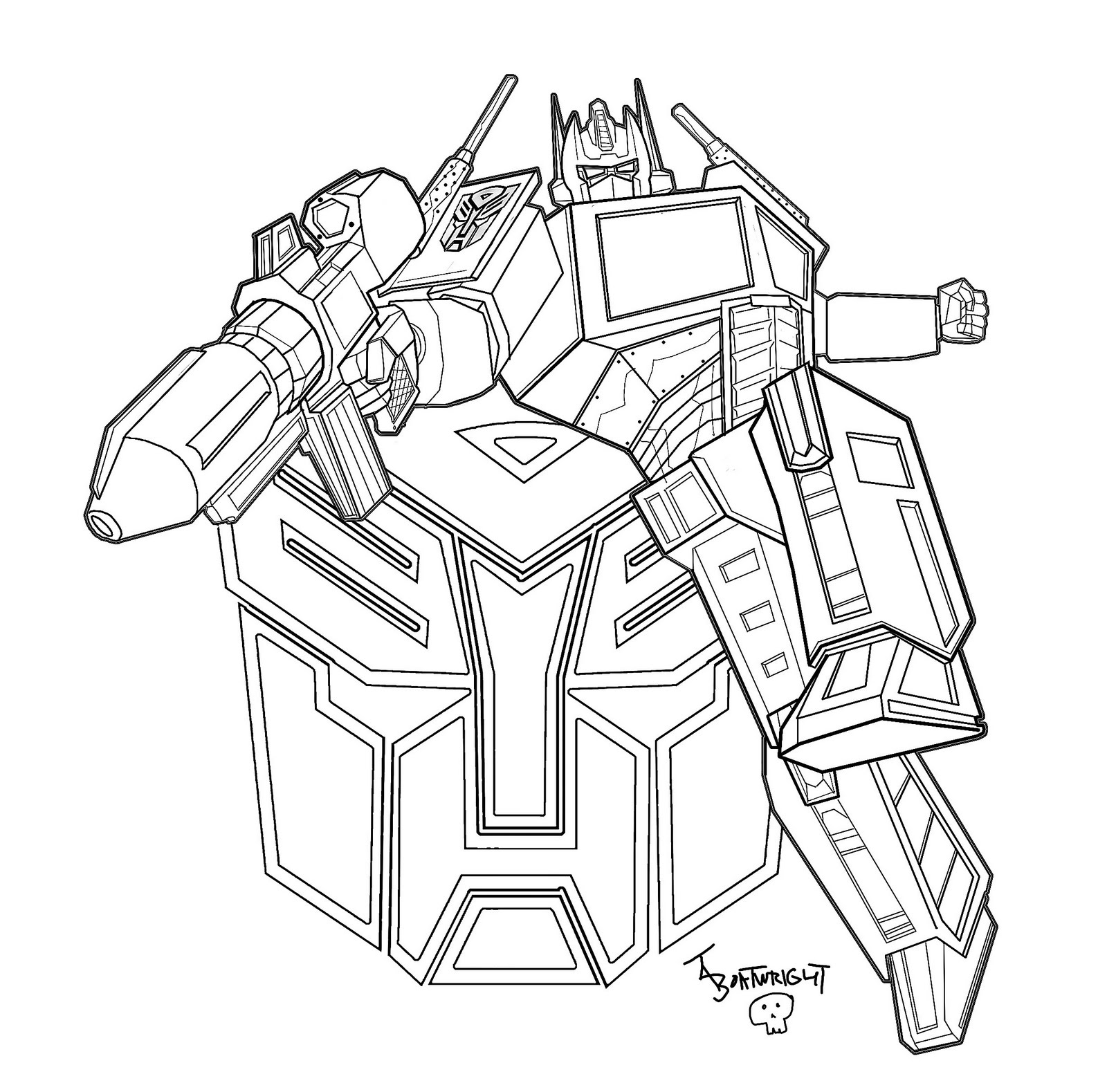 Optimus Prime Transformers Coloring Pages >> Disney ...