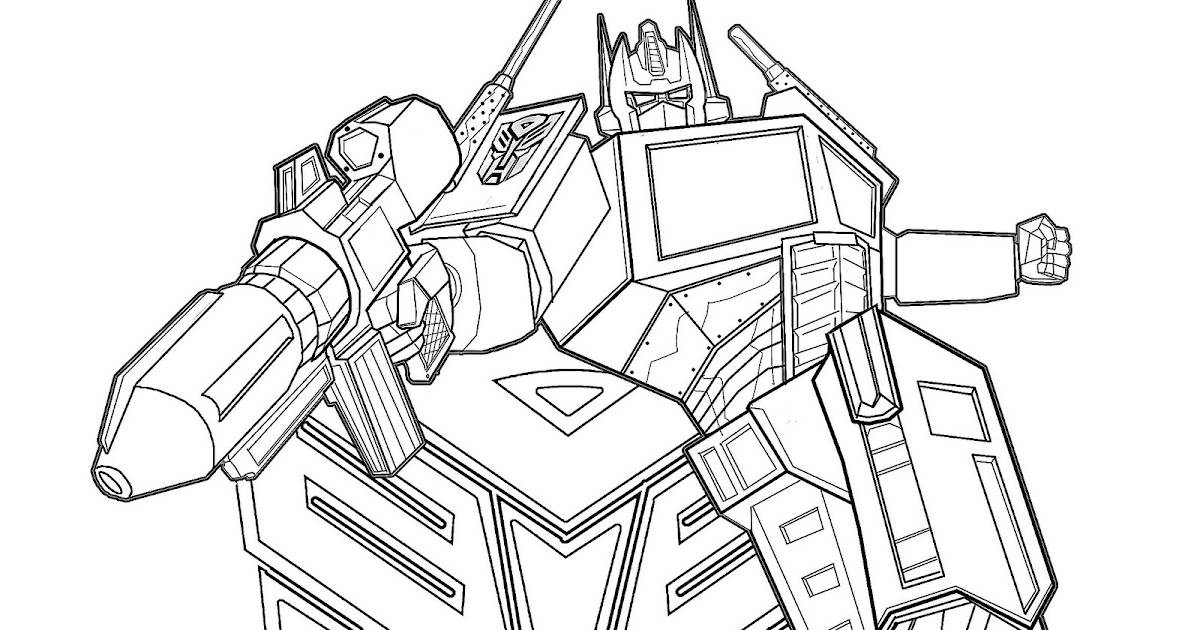 masami lauman optimus prime transformers coloring pages