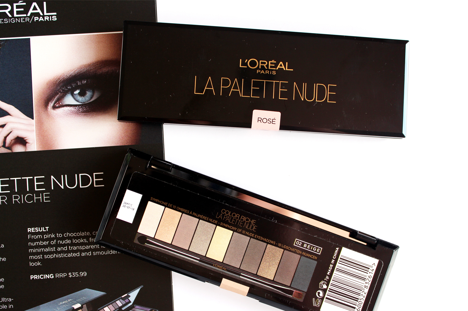 LOreal La Palette Nude Rose & Beige Review + Swatches