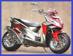 Honda Vario Techno CBS Gaya Racing Elegan Gambar Foto Modifikasi Motor Terbaru 4.jpg