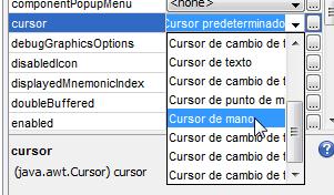 seleccionando un nuevo cursor para el jlabel