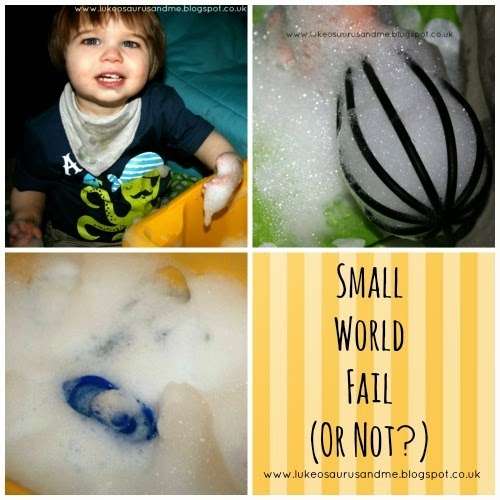 Small World Fail (Or Not?) // Sensory Play // www.lukeosaurusandme.blogspot.co.uk