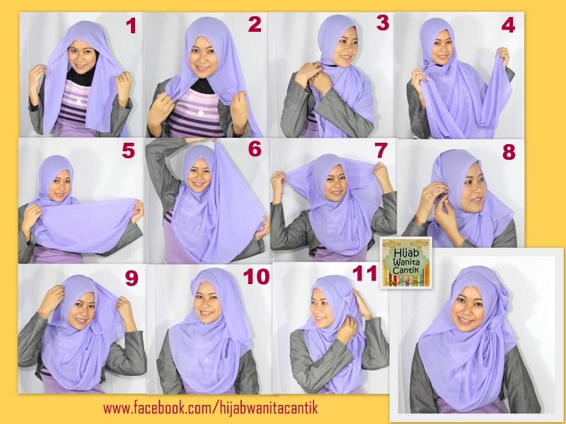 Temukan Informasi Model Dan Cara Pakai Hijab Segi Empat - Sedia Jilbab ...