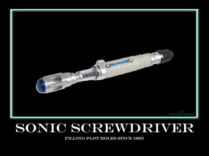 Sonic Screwdriver filling plot holes since 1963