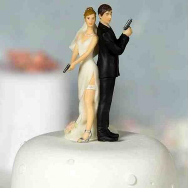 la figurine de gateau de mariage - Personnage Gateau Mariage Humoristique